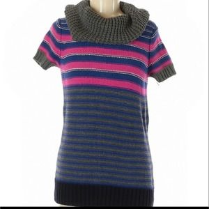 Medium Tommy Hilfiger cowl neck striped sweater